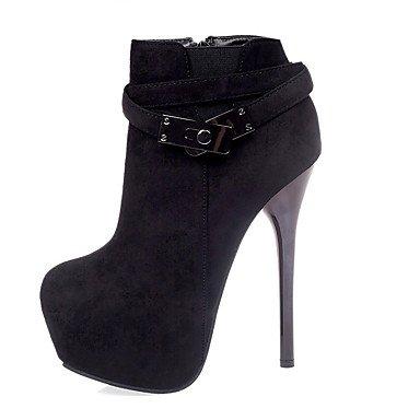 Moda Donna Sandali Sexy donna tacchi tacchi invernale Casual in similpelle Stiletto Heel altri nero / rosso / pesca a piedi Red