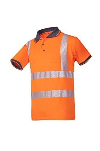 Frederik Sioen 3882a2mc1fc13X L Rotto Hi-Vis Polo-Shirt, 3X Große, orange -