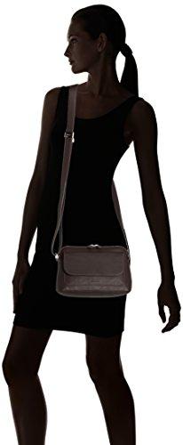 Bree Lapua 2, Black, Cross Shoulder, Sacs bandoulière Femme Marron (dark Brown 860)