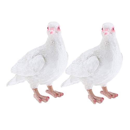 Backbayia Skulpturen Vogelfigur Taube aus Kunstharz Figur Vögel Tiere Simulation Figur Vogelmotiv