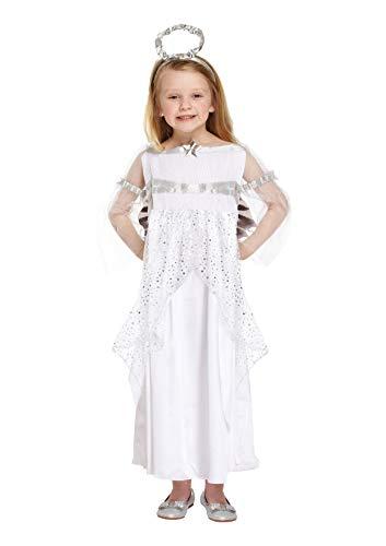 christmasshop Weihnachtskrippe Kids Angel Kostüm - White - 79 (White Angel Kostüm)
