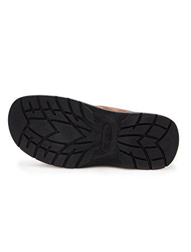 Gepolsterte leder-sandalen für männer. Sport und komfortabel. Moka