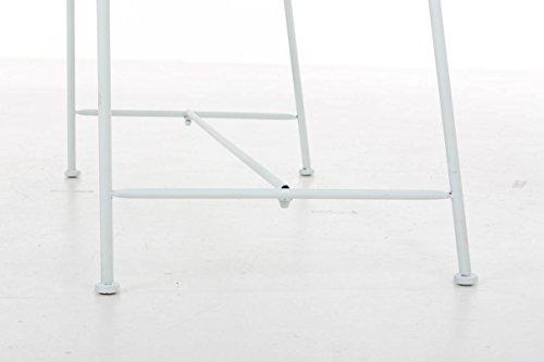 CLP Gartenbank SALIM im Landhausstil, aus lackiertem Eisen, 107 x 50 cm – aus bis zu 6 Farben wählen Weiß - 8