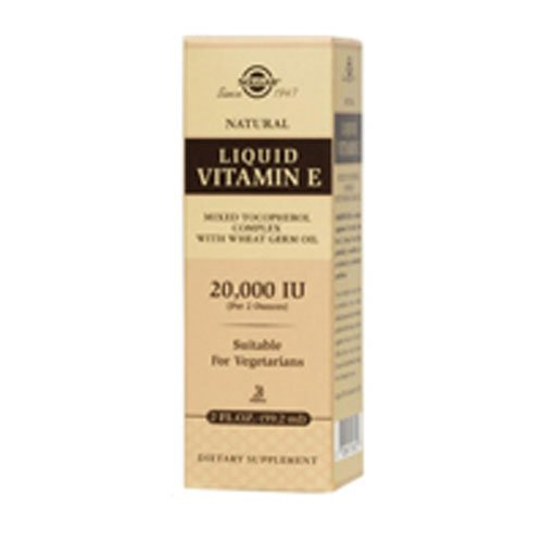 Solgar Liquid Vitamin E Integratore Alimentare Anti Invecchiamento per la Pelle - 59 ml
