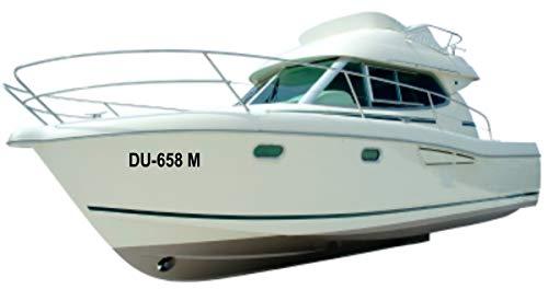 Shirtinstyle Bootsset fürs Schlauchboot Anker 1 x Kapitänscap, 2 x Bootskennzeichen und 2 x Bootsname, Farbe schwarz