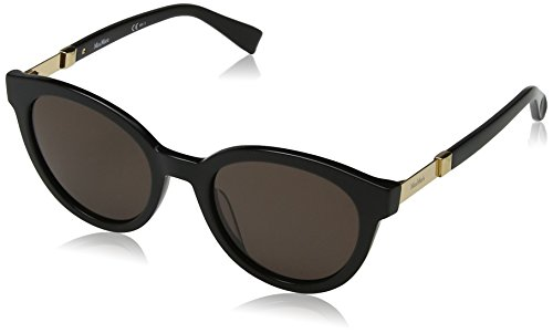 Max mara mm gemini ii 70 807 52, occhiali da sole donna, nero (black/brown)