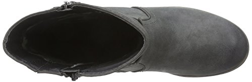 Jana 25405 Damen Biker Boots Grau (grau (ASPHALT 207 ))