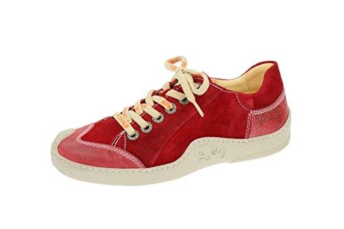 Eject  7211.16184.20 Skat Rot, Chaussures à lacets et coupe classique femme Rouge