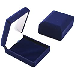 1 x Blue Velvet Pendant Drop Earring Box (BD05)