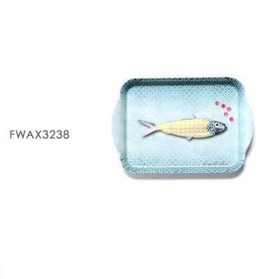Laissez Lucie Faire FWAX3238 Mini Plateau Mélamine Mer
