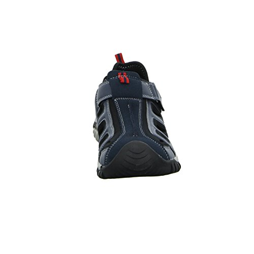 living Updated JH-SD43069 Herren Sandalette Ferse geschlossen sportlicher oder eleganter Boden Blau (Blau)