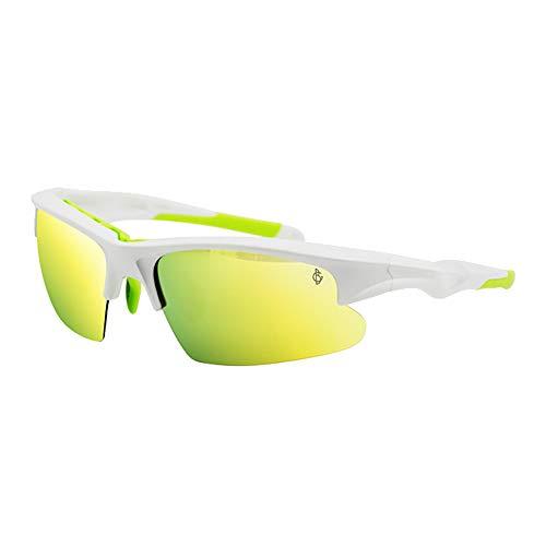 YISHIOR Sonnenbrillen für Herren und Damen, Polarisierte Flach- / Nachtsichtbrillen Sportbrillen Angeln Golf/Angeln/Radfahren/Laufbrillen,Purewhite