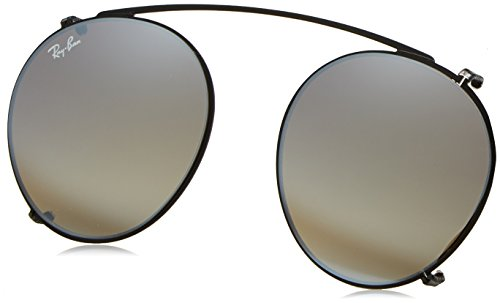 Ray-Ban - ROUND RX 2180V, Rund, Metall, Herrenbrillen, BLACK/GREY GOLD MIRROR(2509/B8), 47/21/0