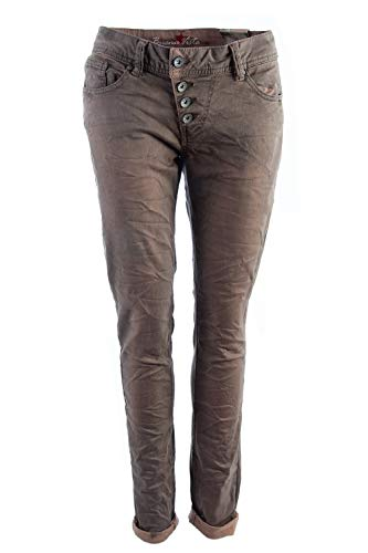Buena Vista Damen Jeans Malibu Stretch Twill braun - S -