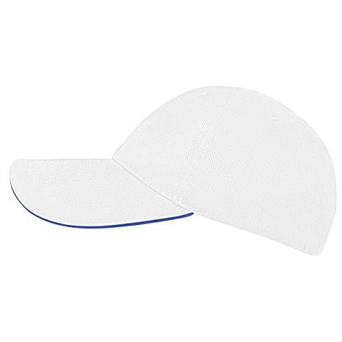 famvis Style Klassische Baseball Cap für Damen und Herren aus reiner Baumwolle, verstellbar, Basecap Kappe Mütze Hut weiß Coole Trucker Hut