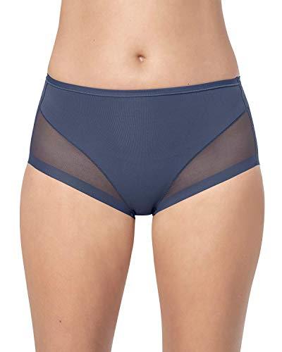 Leonisa Damen Super Comfy Shapewear Panty Formwäsche Gr. S, blau -
