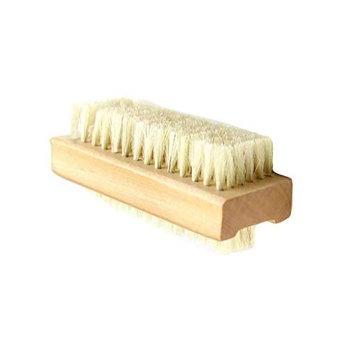 ZZYLHS Überlegene Qualität Holz Schwein Borsten Buchenholz Reinigungsbürste Für Jade Erhaltung Walnuss Hand Nagel Maniküre Pediküre Schwielen (Color : Yellow) (Pediküre Pool)