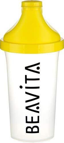 Beavita - Shaker   500 ml   Shaker con inclusa il mixing setaccio per bevande sportive e pasti sostituivi senza grumi   Shaker proteine   Borraccia palestra   Unisex   1 pezzo