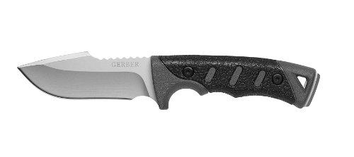 Gerber Outdoormesser Metolius, Stahl 154 CM, Kunststoff-Griff mit SoftGrip-Überzug, Nylonscheide -