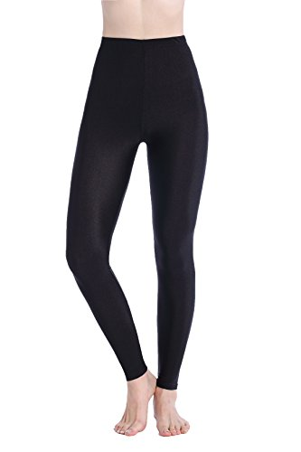 DODOING Damen Legging Schwarz Pants Yoga Jogginghose Schwarz Stretch Workout Fitness Sporthose Trainingshose (Spanx Cotton Strumpfhose)