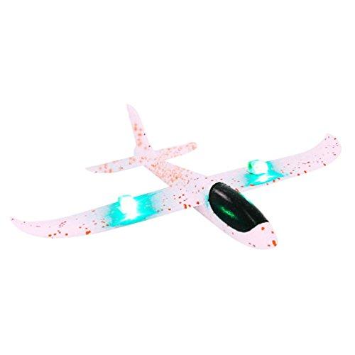 DIY-Flugzeuge,Jaminy Auswurf Gleiter LED Nacht Flugzeug Spielzeug Hand Start Flugzeug Modellieren - 5 Iphone Halloween-thema
