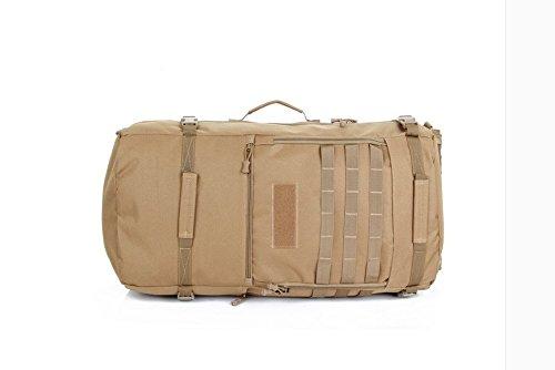 70L Alpinismo Outdoor borse impermeabili zaino camouflage 67*32*20cm,ACU Digital 56-75 litri Lupo 56-75marrone L