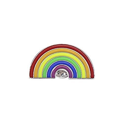 FENICAL Rainbow Brooch Unisex Rainbow Bridge Drop Oil Brooch Pin de Solapa de joyería para Mujeres