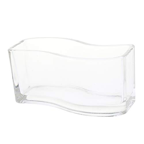 Flameer mini fish bowl in vetro piccolo serbatoio da pesca decorazione per casa, hotel - s