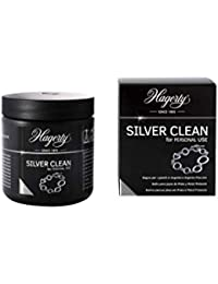 Hagerty - Silver Clean - Limpiador por inmersión de joyas de plata y piezas plateadas - 1 unidad 170 ml - En tan sólo 2 minutos limpia y devuelve el brillo original