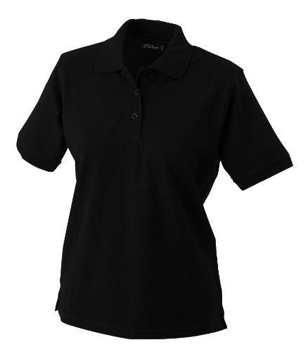 James & Nicholson Damen Poloshirt Ladies' Polo, Gr. XX-Large, Schwarz