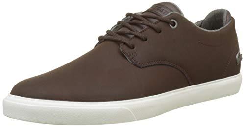Lacoste Herren Esparre 318 1 Cam Sneaker, Braun (Dk BRW 2e2), 42.5 EU