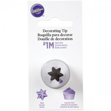 Wilton #1M 2110 Open Star Icing Nozzle / Decorating Tip Stars Drop Flowers Open Star Tip