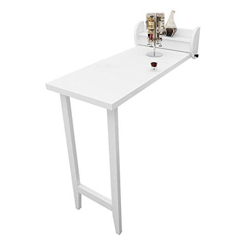 Wandklapptisch WNX Klappbarer, Küche & Esszimmer Holztisch Kindertisch, Weiß, Platzsparendes Einlegeboden (Farbe : Density board table)
