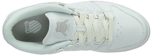 K-Swiss Alvary Lth~white/Gull Gray~m, Baskets Basses homme Blanc - Weiß (White/Gull Gray/131)