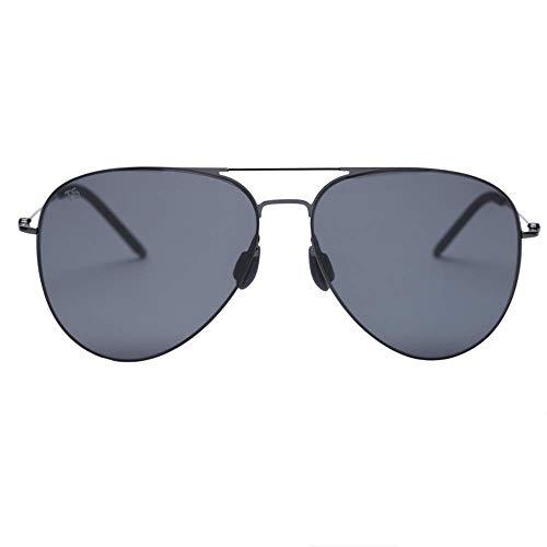 ZTMN Sonnenbrille Sonnenbrillen-Harz, polarisierte Nylongläser, UV-isoliert, randloses Design, Trend-Froschspiegel für Damen und Herren (Farbe: GRAU)