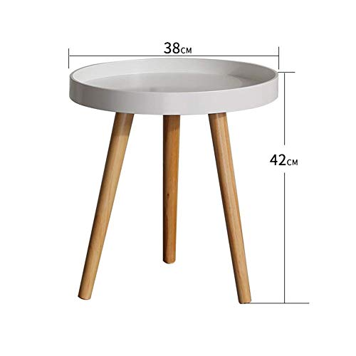 HYLH Side Tables,Tables Coffee Tables Round Side Tables Modern End Tables Occasional Tea Tables Nesting Tables for Balcony and Living Room Set (Color : White small Yellow Large disc) - Moderne Nesting Table