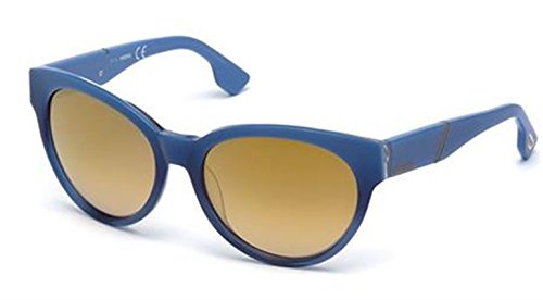Diesel Für Frau 0124 Shiny Blue / Brown Mirror Kunststoffgestell Sonnenbrillen