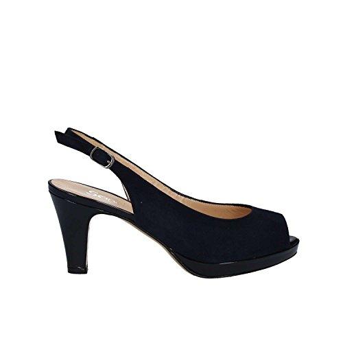 GRACE SHOES 683 Sandalo tacco Donna Blu