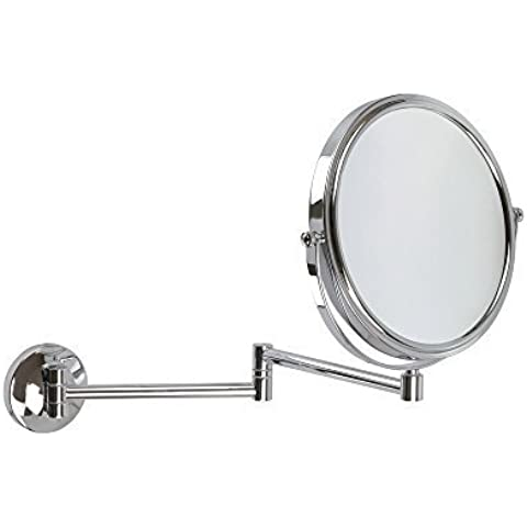 5x Ampliación Cromado De Pared Extensible Espejo