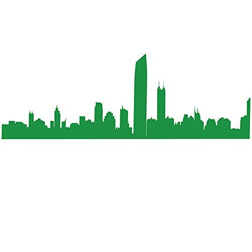 Sticker Mural 3D Autocollant Ligne De Taille De Verre De Papier Adhésif De Décoration De Mur De Bâtiment Adhésif De Mur De Silhouette De Salle De Conférence De Style, Style 1: Vert, Très Grand