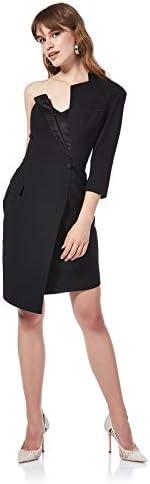 فستان سهرة توكسيدو بتصميم غير متماثل للنساء من بي يو
