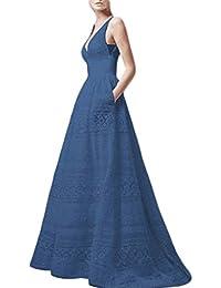 e7a018fdd9dd7 friendGG Evening Dresses for Women UK,Plus Size Summer Sexy V-Neck Cutout  Sleeveless