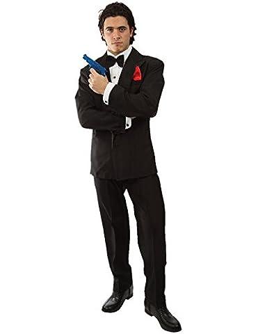James Bond 007-Herren Kostüm Karneval Fasching Verkleidung Mottoparty Extra Large (James Bond 007 Kostüme)