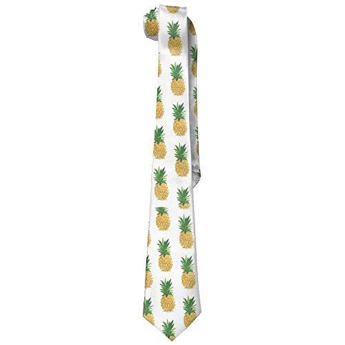 Men's Pineapple Vintage Necktie Ties Skinny Ties