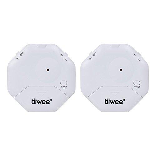 tiiwee Alarma Anti Rotura de Cristales - Ventanas seguras - Protección contra robo para Ventanas - Alarma de Casa - Juego de 2