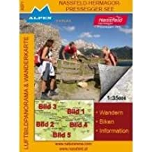 Luftbildpanorama & Wanderkarte - Nassfeld - Hermagor - Pressegger See