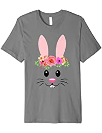 Süße Ostern Hase Face T-Shirt, Cute Easter Bunny Face Tee