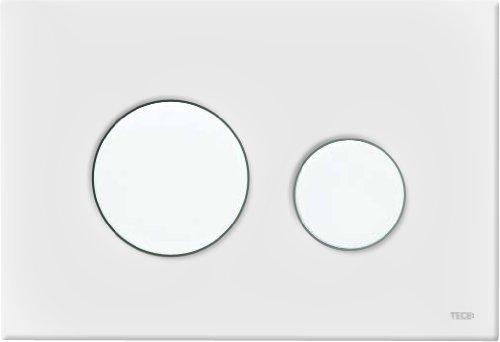 Tece Loop 9240600 - Placca di comando WC per sciacquone a doppio scarico, colore: Bianco