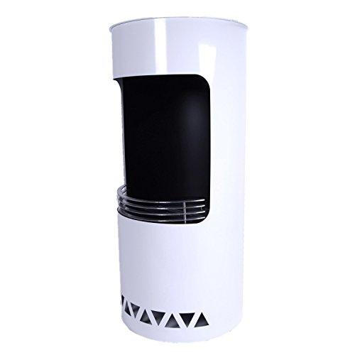 Ethanol Standkamin in Säulenform, Weiß