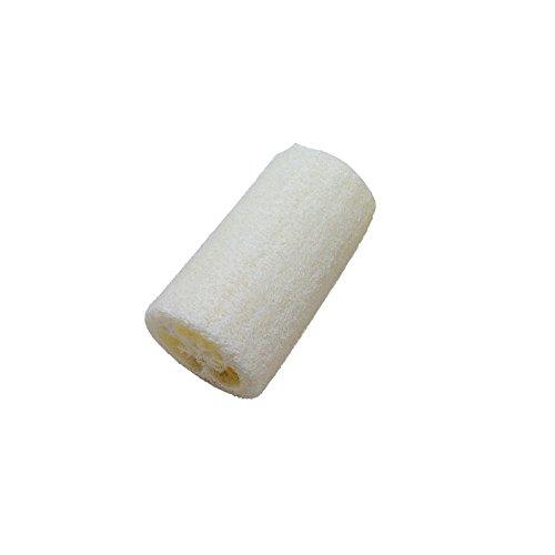 BURFLY Neue Natürliche Luffa-Bad-Körper Duschschwamm Wäscher-Baden Auflage Bad Peeling Luffa 3 Zoll, Weiß -